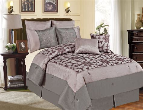 Image of: Wonderful Grey Comforter Sets King