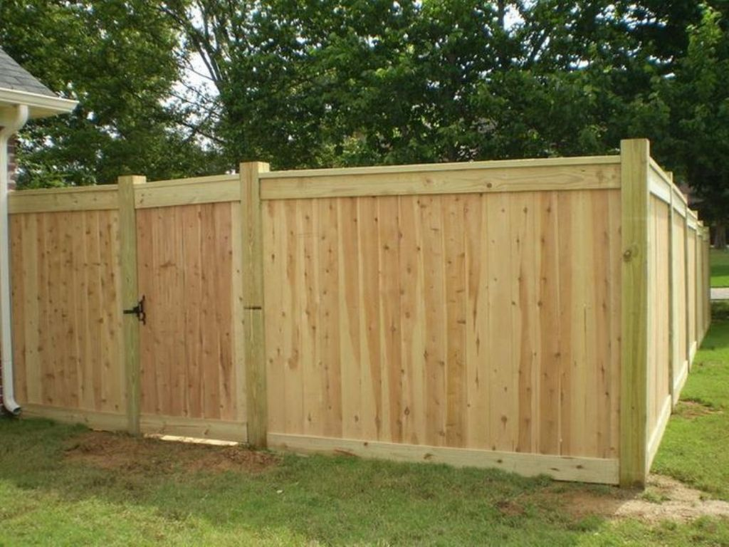 Picture of: Wood Fence Cap Fields