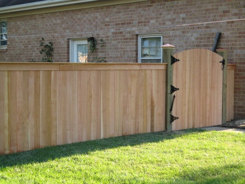 Picture of: Wood Fence Cap Ideas