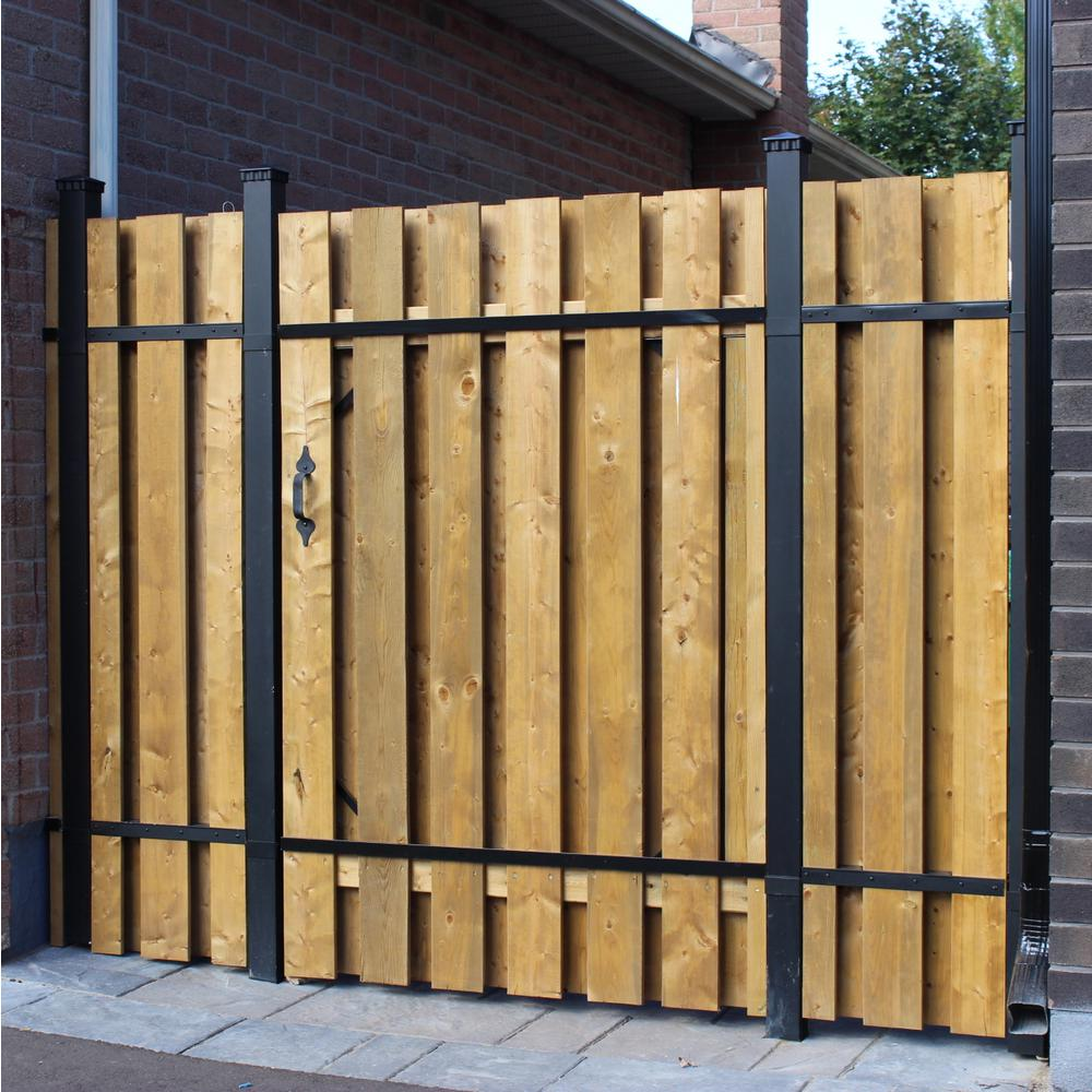 Picture of: Wood and Metal Fence DIY