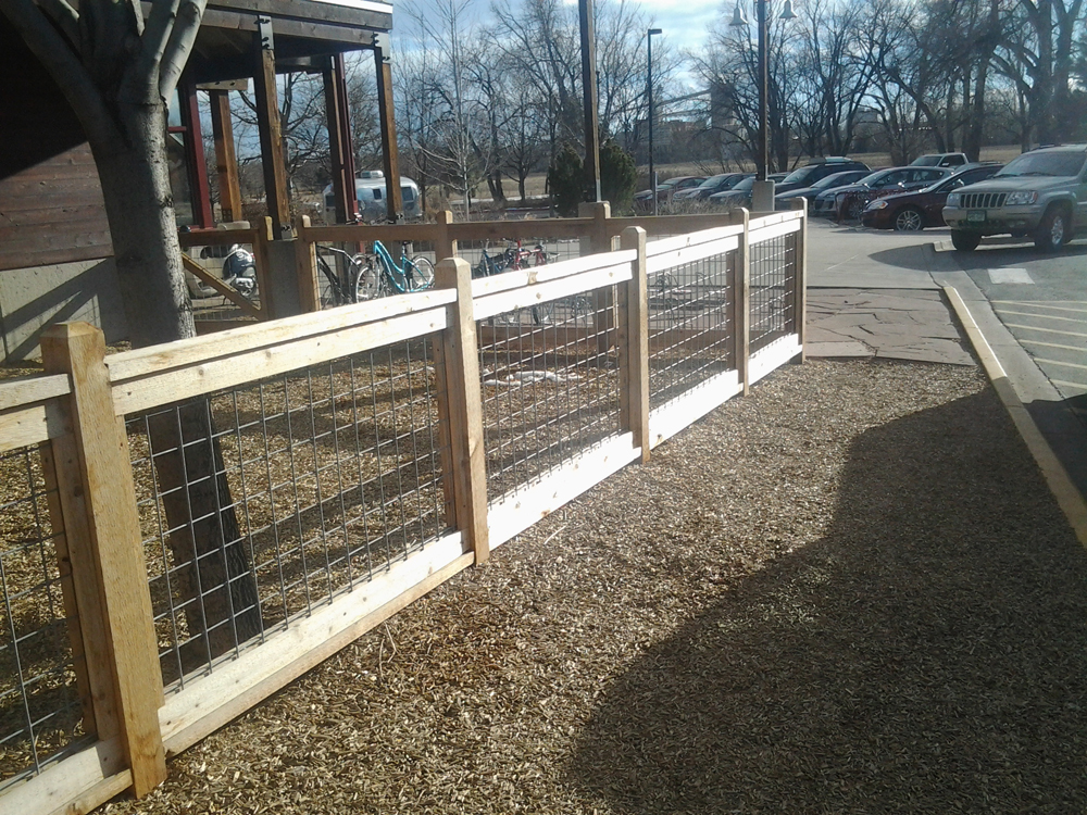 Picture of: Wood and Metal Fence Low