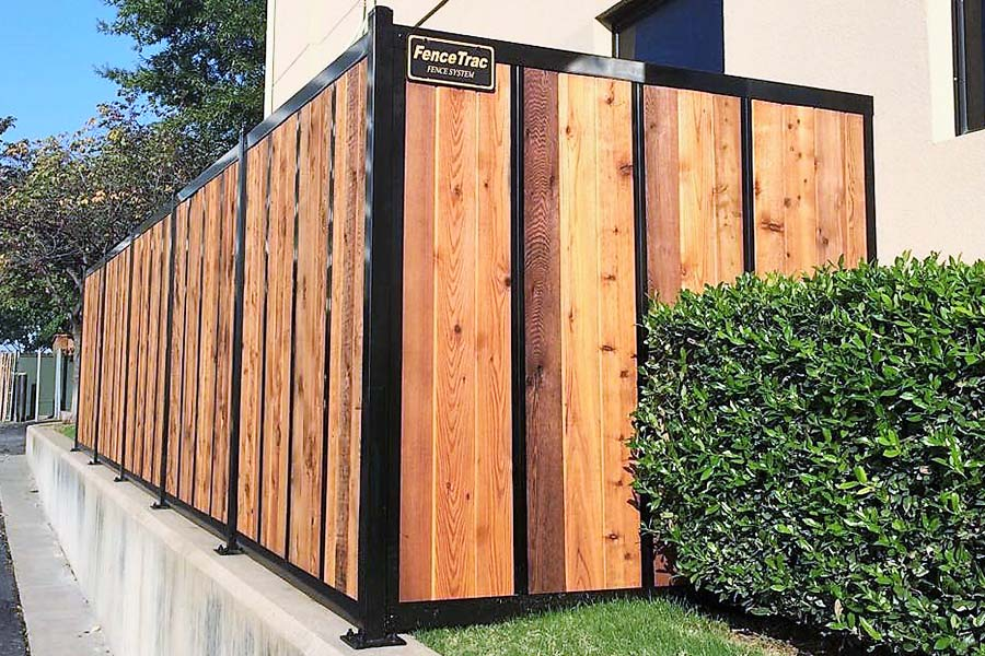 Wood and Metal Fence System