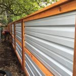 Wood and Sheet Metal Fence