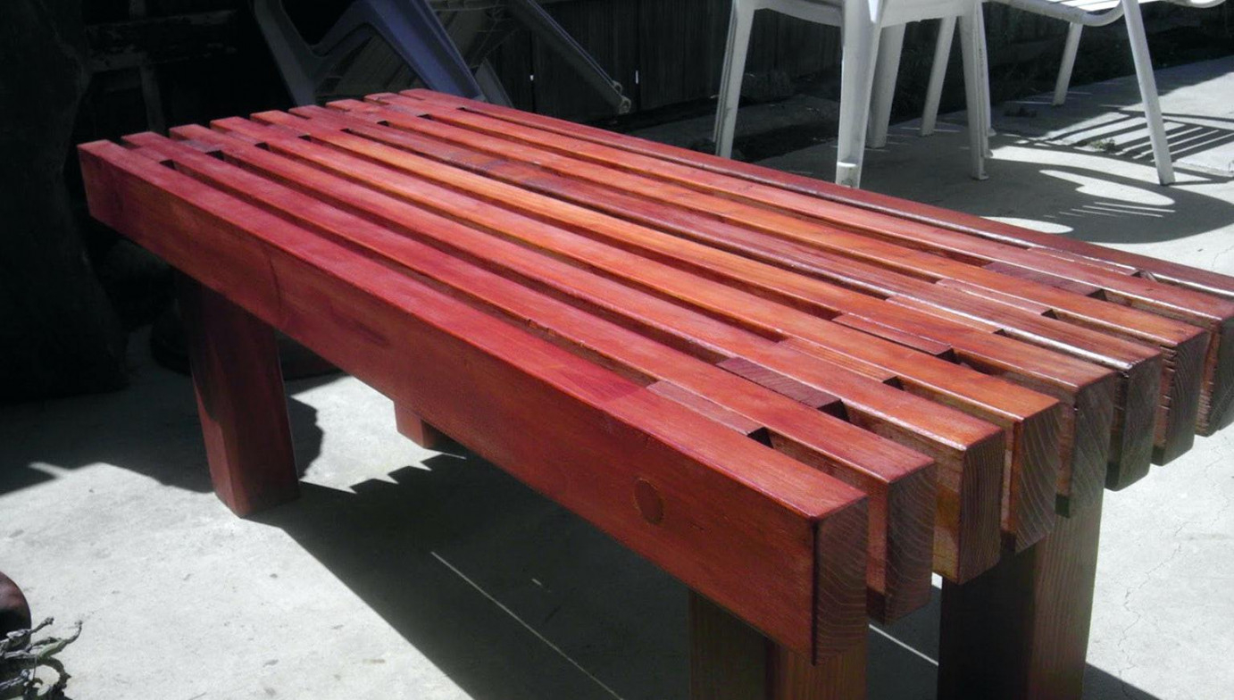 Picture of: Wooden Bench Outdoor