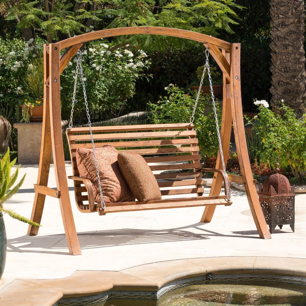 Picture of: Wooden Bench Swing Design Ideas