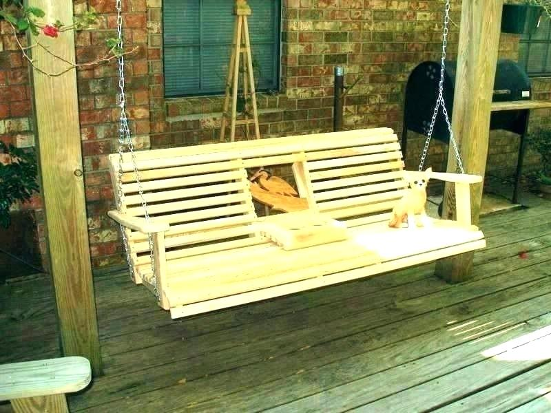 Picture of: Wooden Bench Swing Design