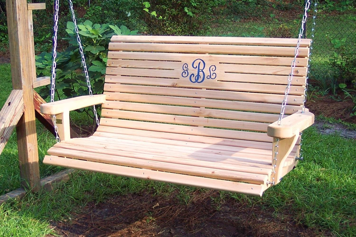 Picture of: Wooden Bench Swing Ideas