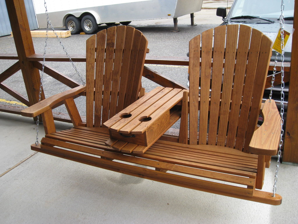 Picture of: Wooden Bench Swing Stand