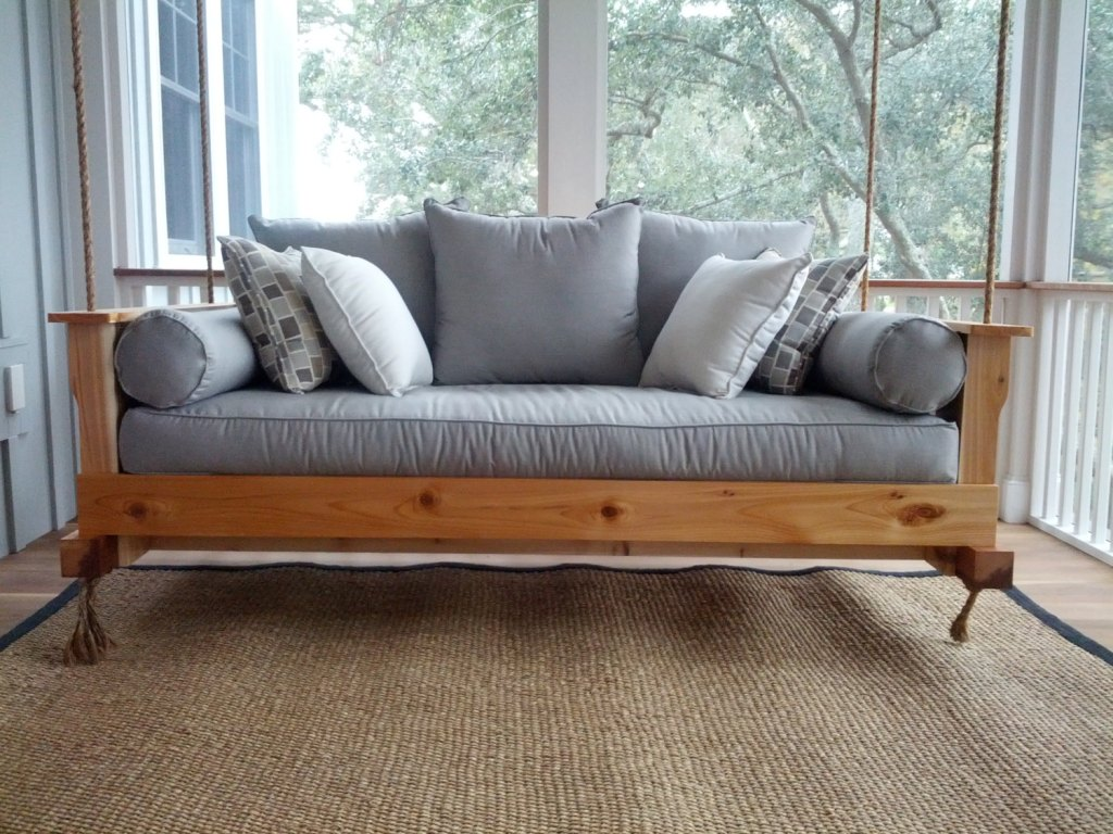Wooden Bench Swing Style