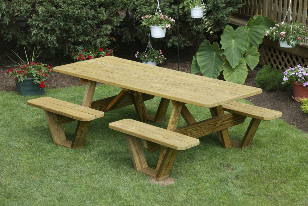 Picture of: Wooden Bench Table Hire