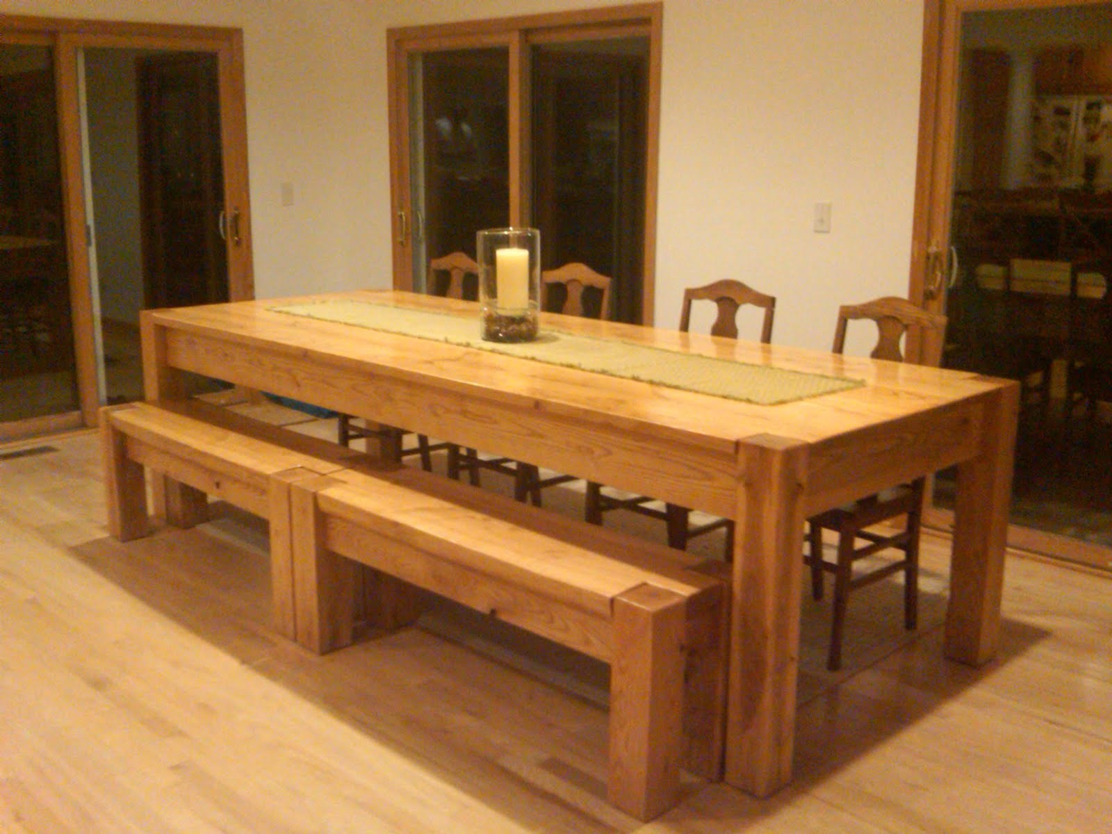 Picture of: Wooden Bench Table Indoor