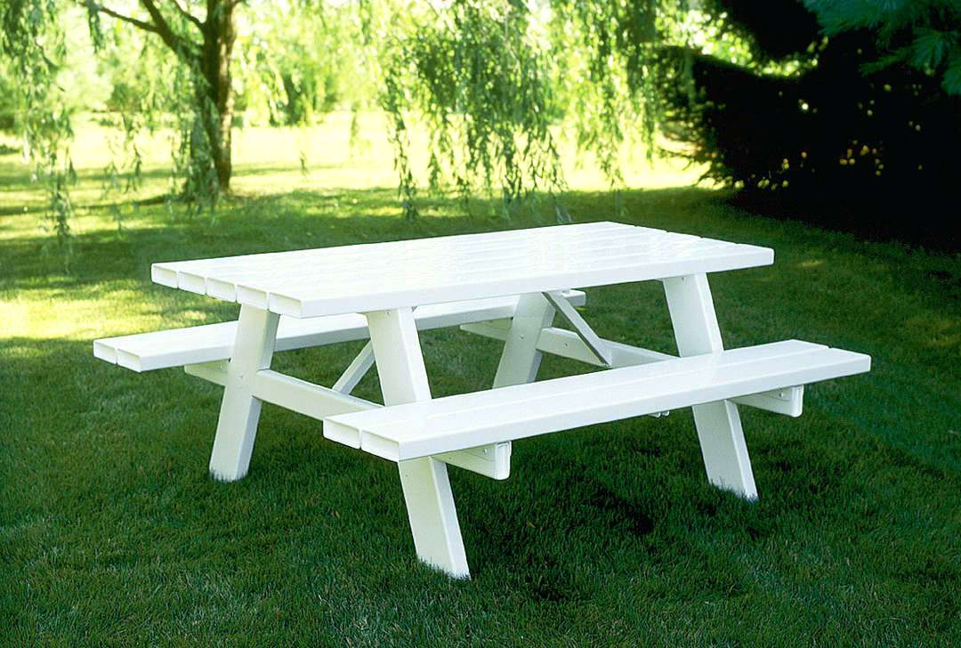 Picture of: Wooden Bench Table Outdoor