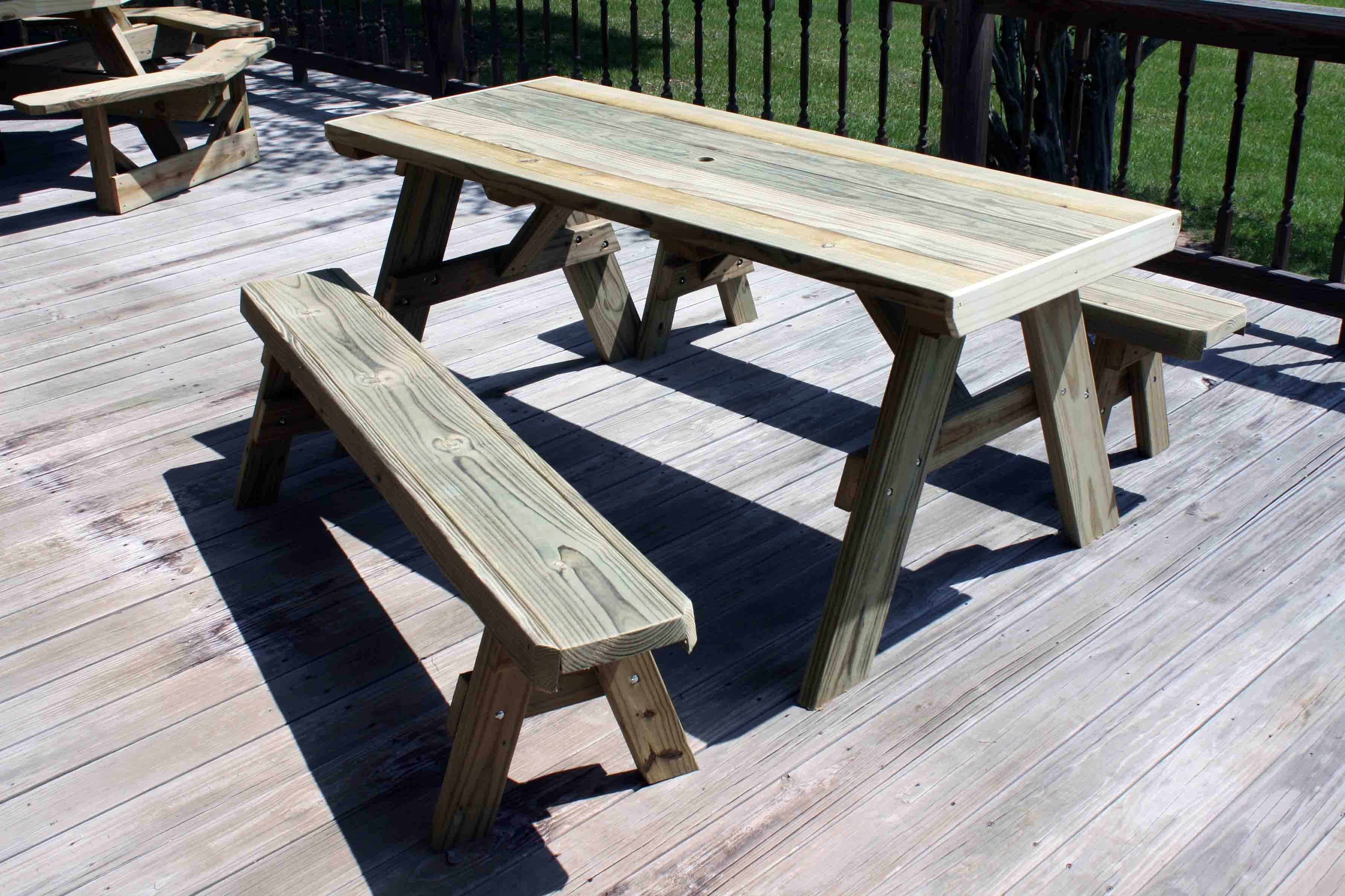 Picture of: Wooden Bench Table and Chairs