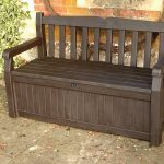 Wooden Bench with Storage Arms