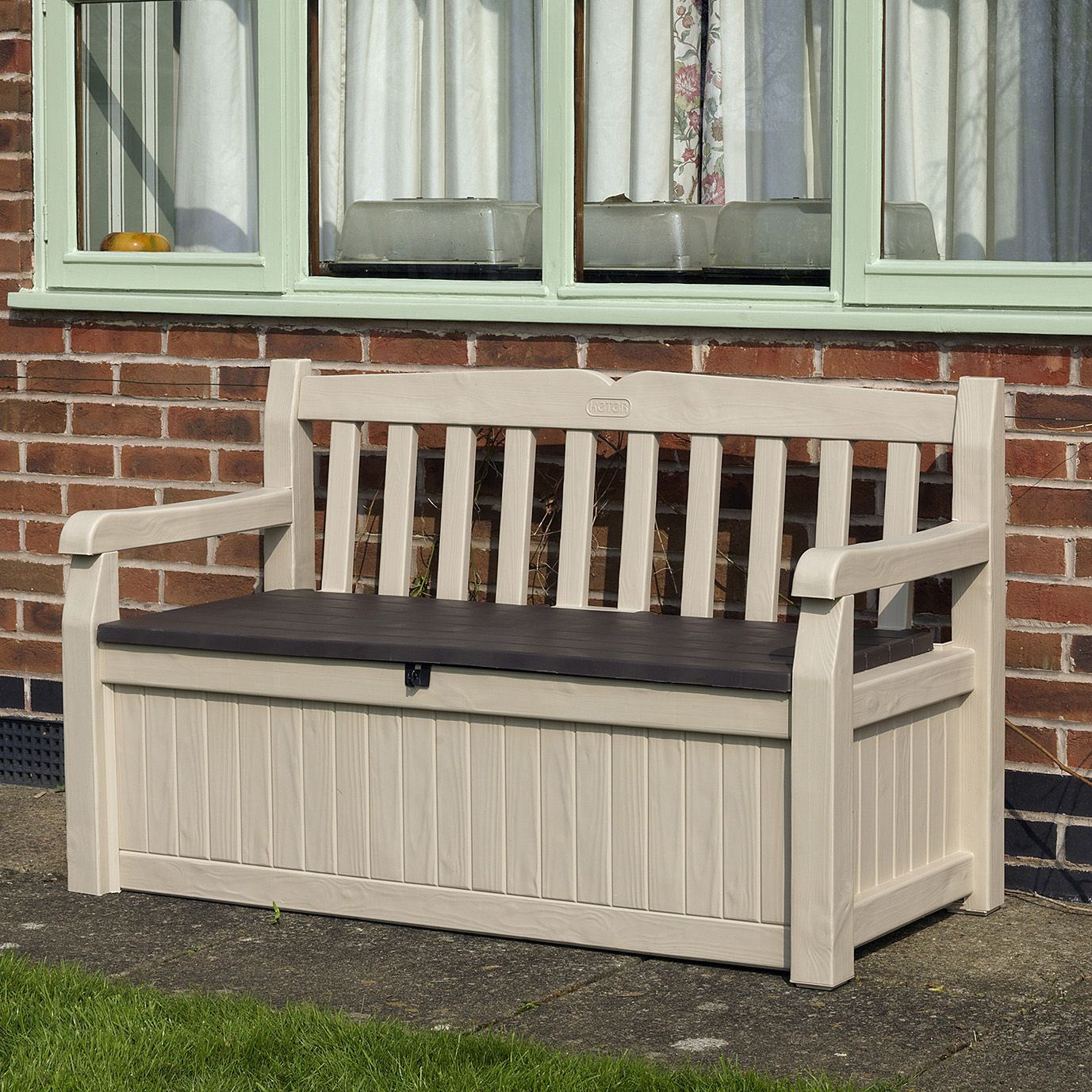 Picture of: Wooden Bench with Storage Color