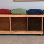 Wooden Bench with Storage Cube