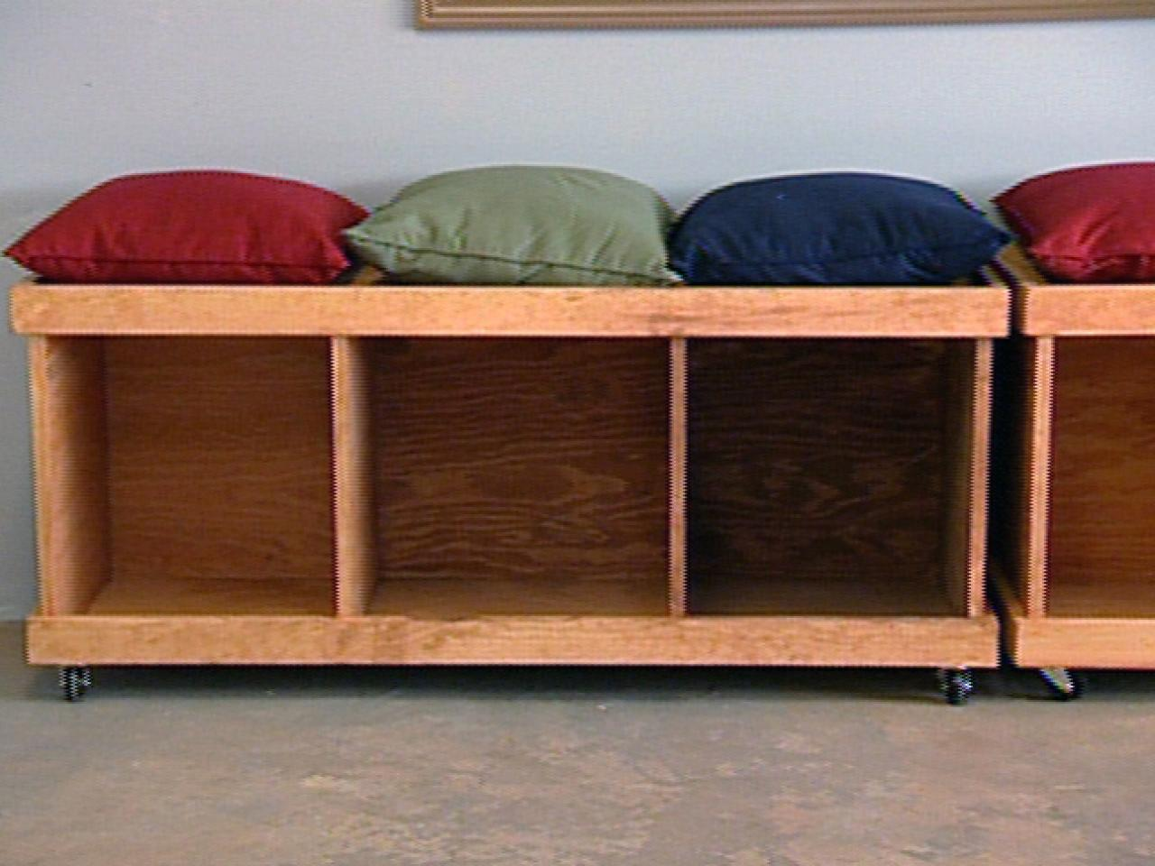 Picture of: Wooden Bench with Storage Cube