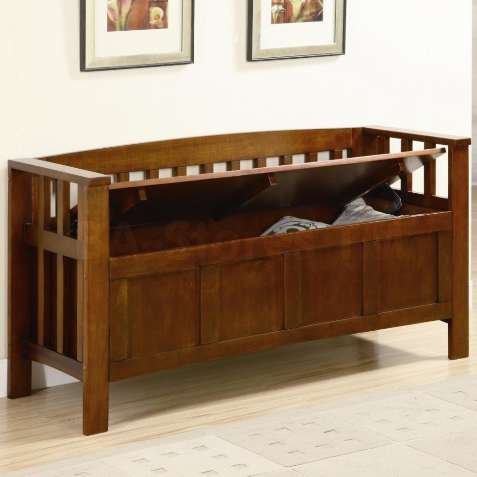 Picture of: Wooden Bench with Storage Model