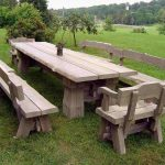 Wooden Benches For Outside Sets