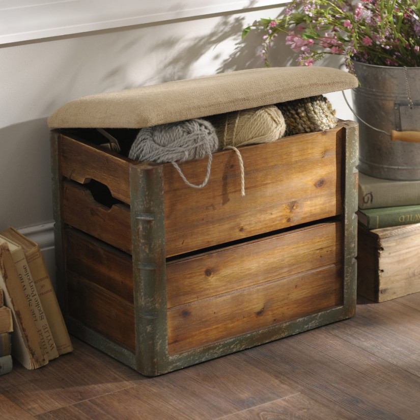 Picture of: Wooden Crate Bench Box