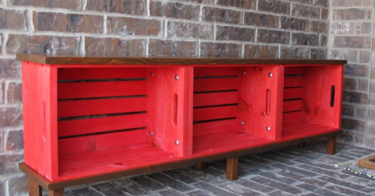 Picture of: Wooden Crate Bench Color