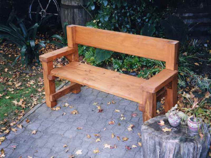 Picture of: Wooden Garden Bench Back