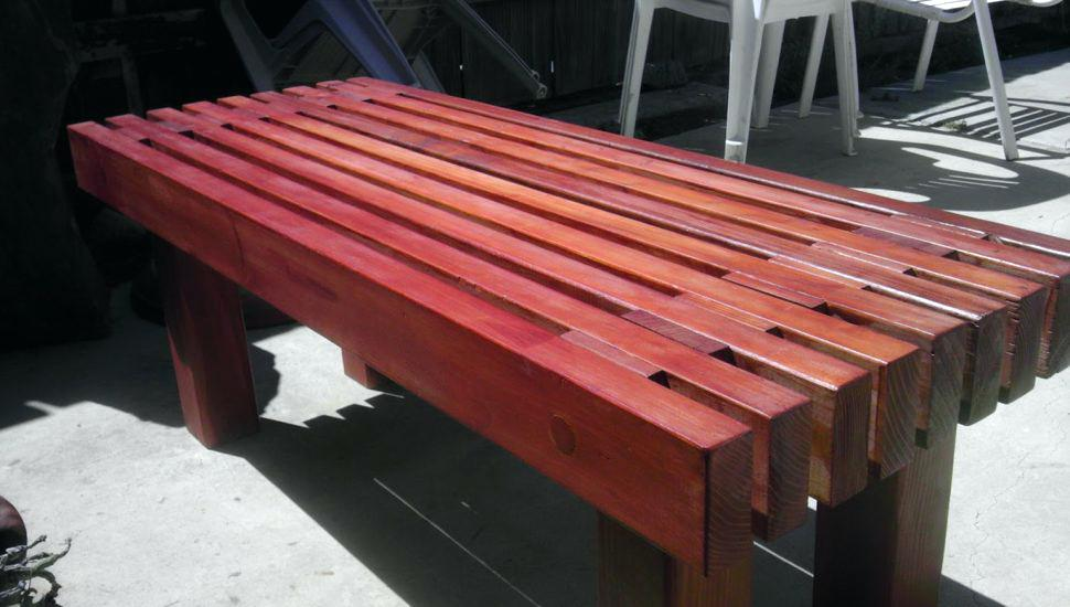 Picture of: Wooden Garden Bench Color