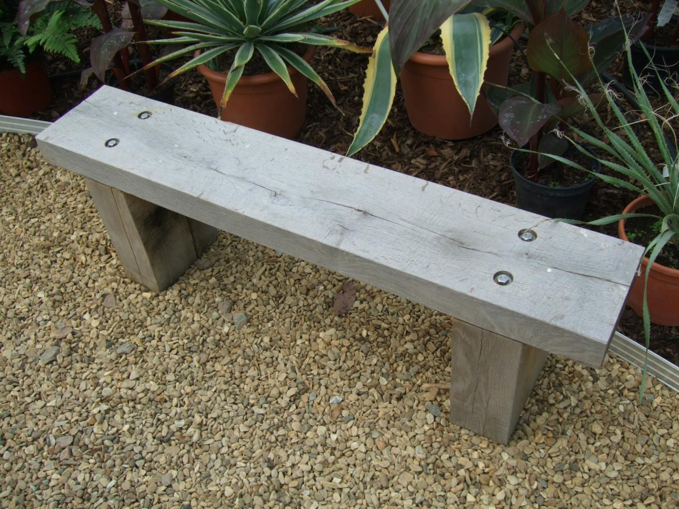 Picture of: Wooden Garden Bench Gray