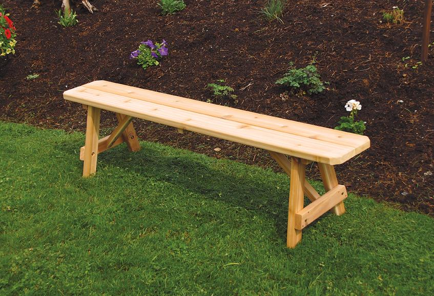Picture of: Wooden Garden Bench Long