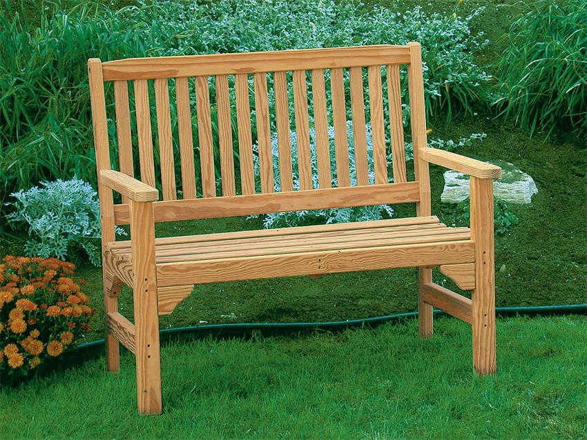 Picture of: Wooden Garden Bench Plans