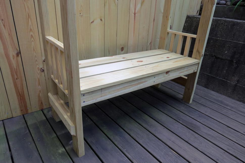 Picture of: Wooden Garden Bench Solid
