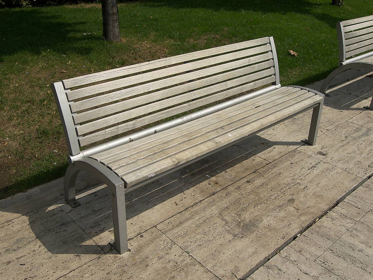 Wooden Park Bench Combination