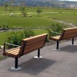 Wooden Park Bench Commercial