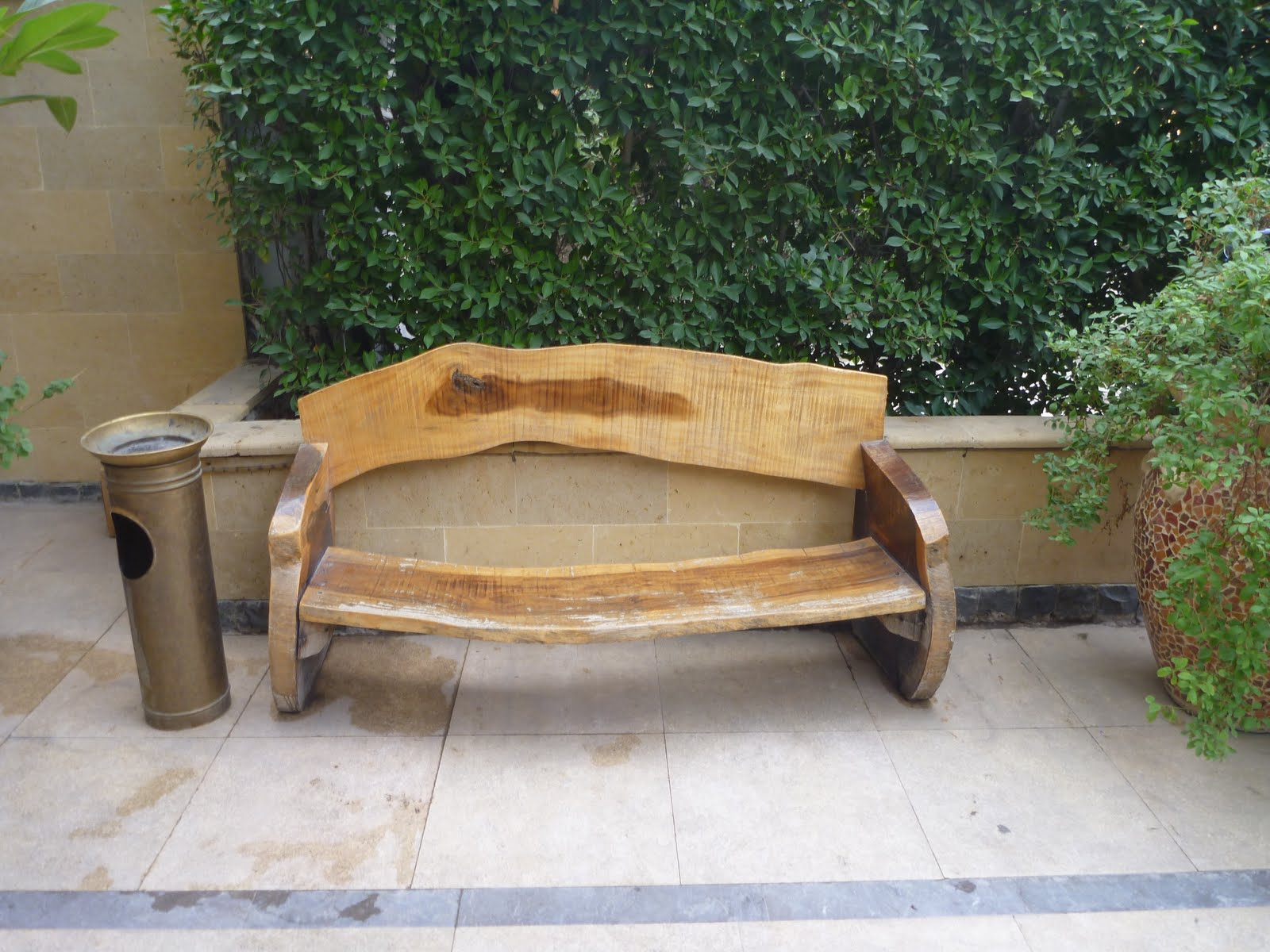 Wooden Park Bench Solid