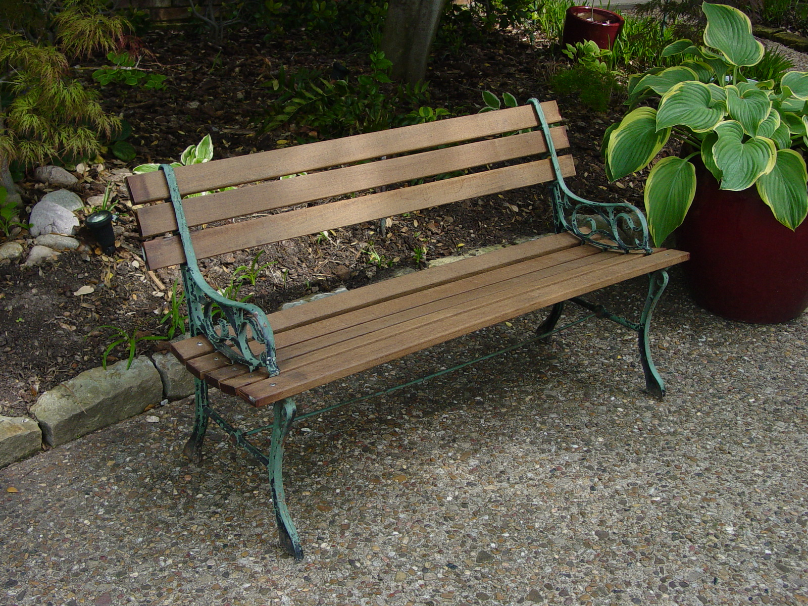 Wooden Park Bench Style