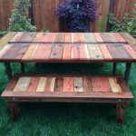 Wooden Picnic Bench Color