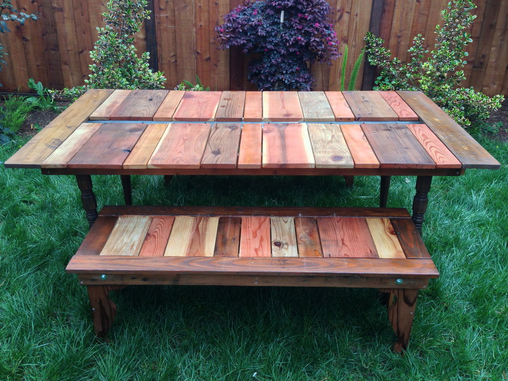 Picture of: Wooden Picnic Bench Color