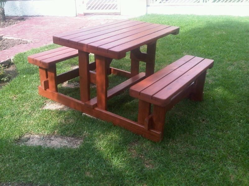 Picture of: Wooden Picnic Bench Idea