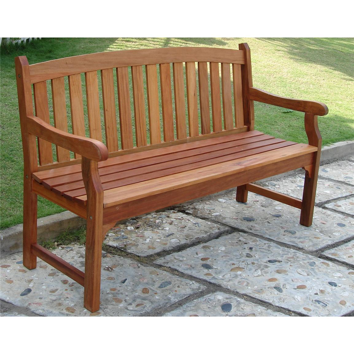 Picture of: Wooden Porch Bench Color