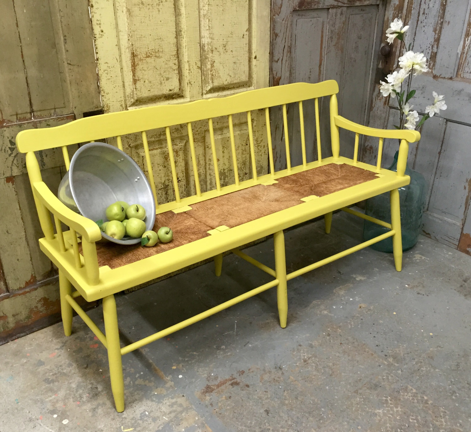 Picture of: Wooden Porch Bench Colors