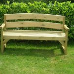 Wooden Porch Bench Simple