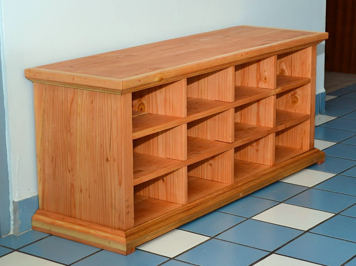 Picture of: Wooden Shoe Bench Cubby
