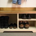 Wooden Shoe Bench Entryway