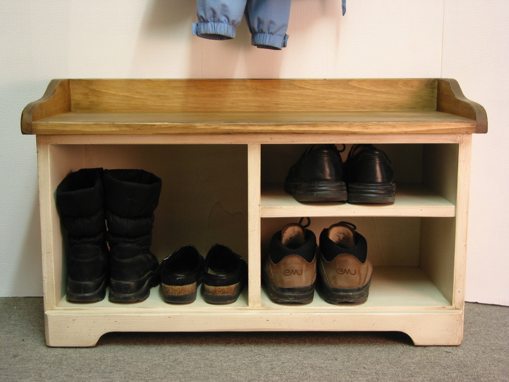 Picture of: Wooden Shoe Bench Entryway