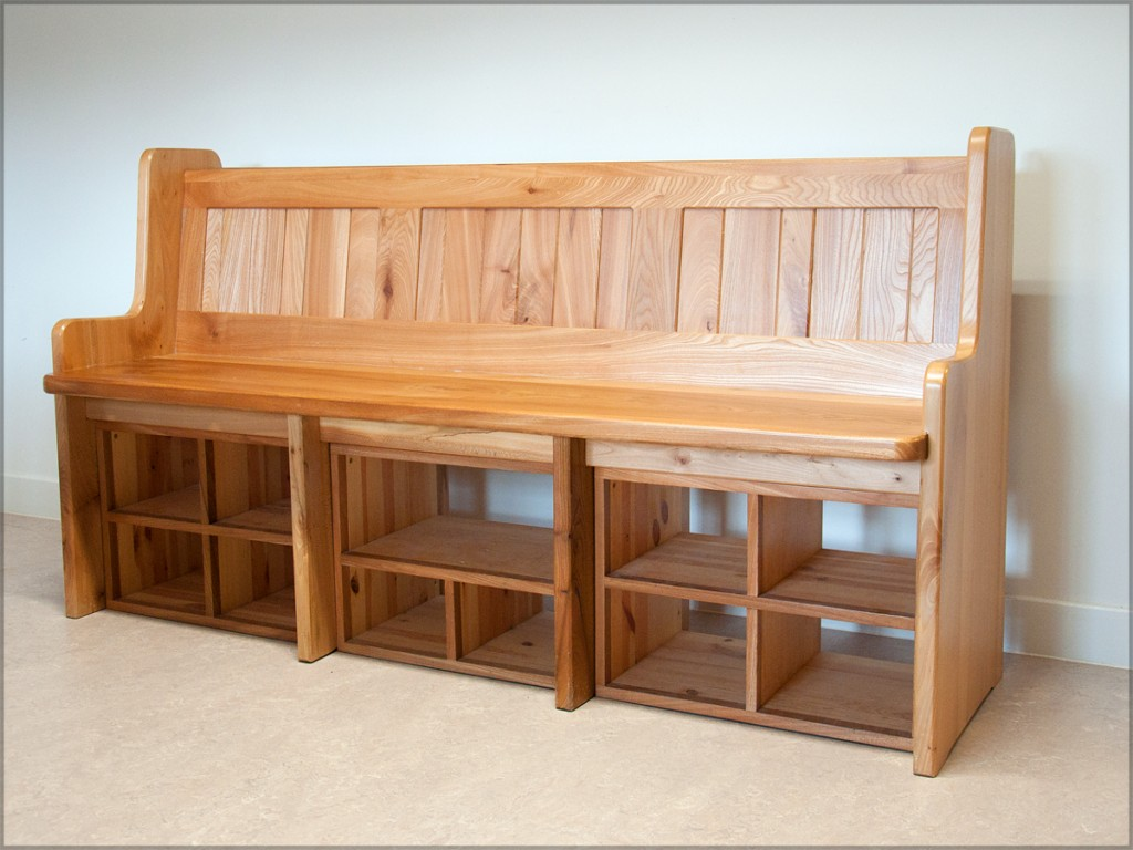 Picture of: Wooden Shoe Bench Large