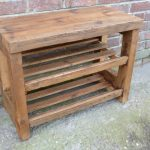 Wooden Shoe Bench Simple