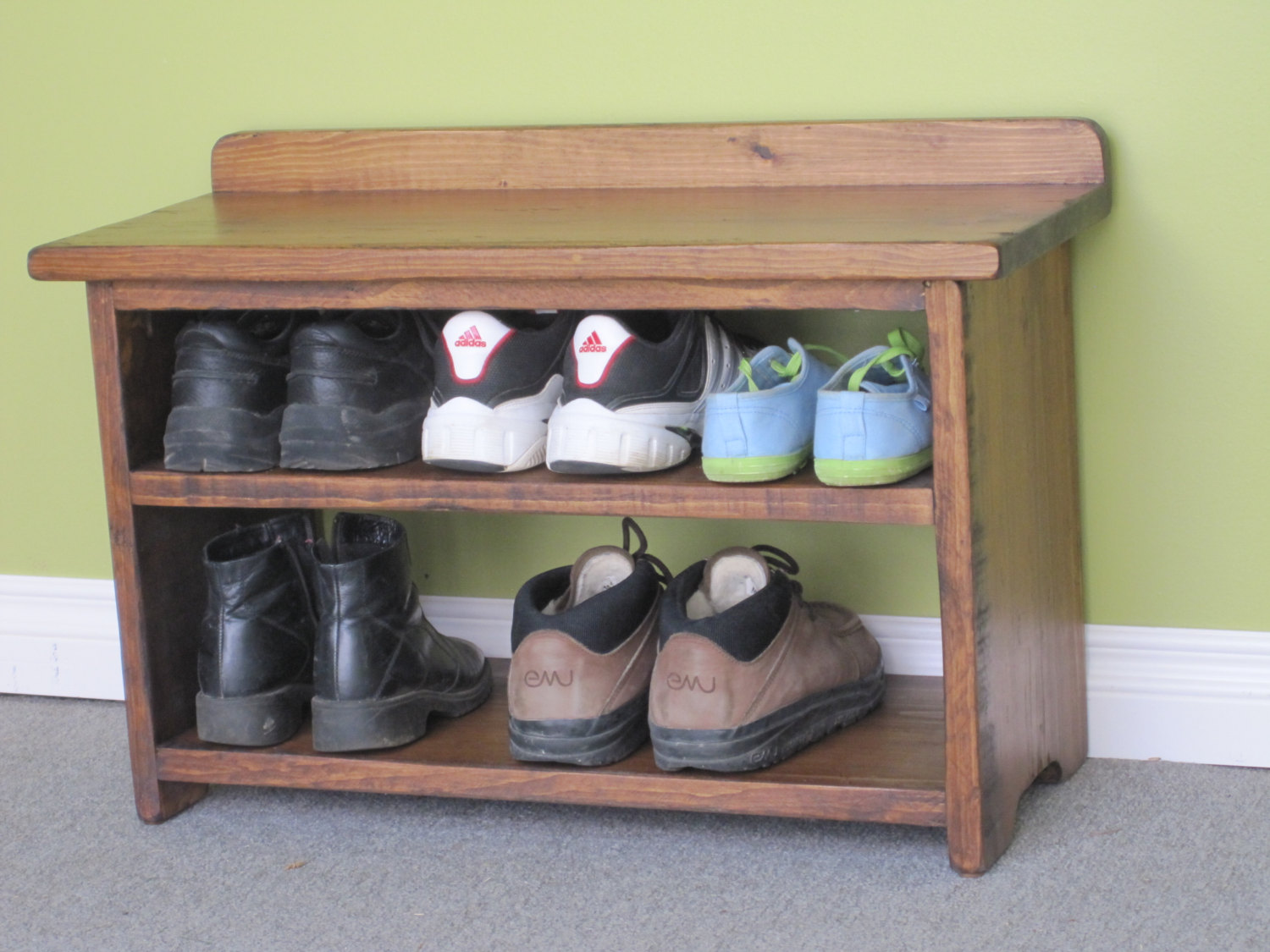 Picture of: Wooden Shoe Bench Small