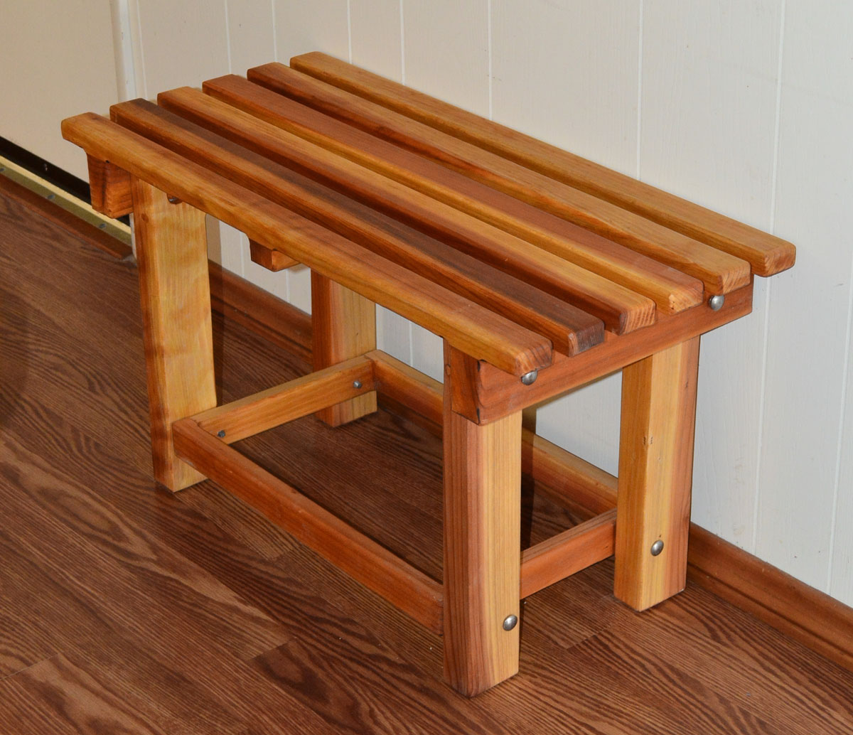 Wooden Shower Bench Color