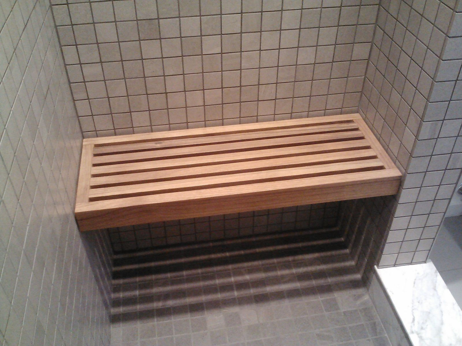 Wooden Shower Bench Floating
