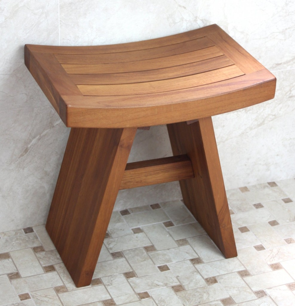 Wooden Shower Bench Small Size
